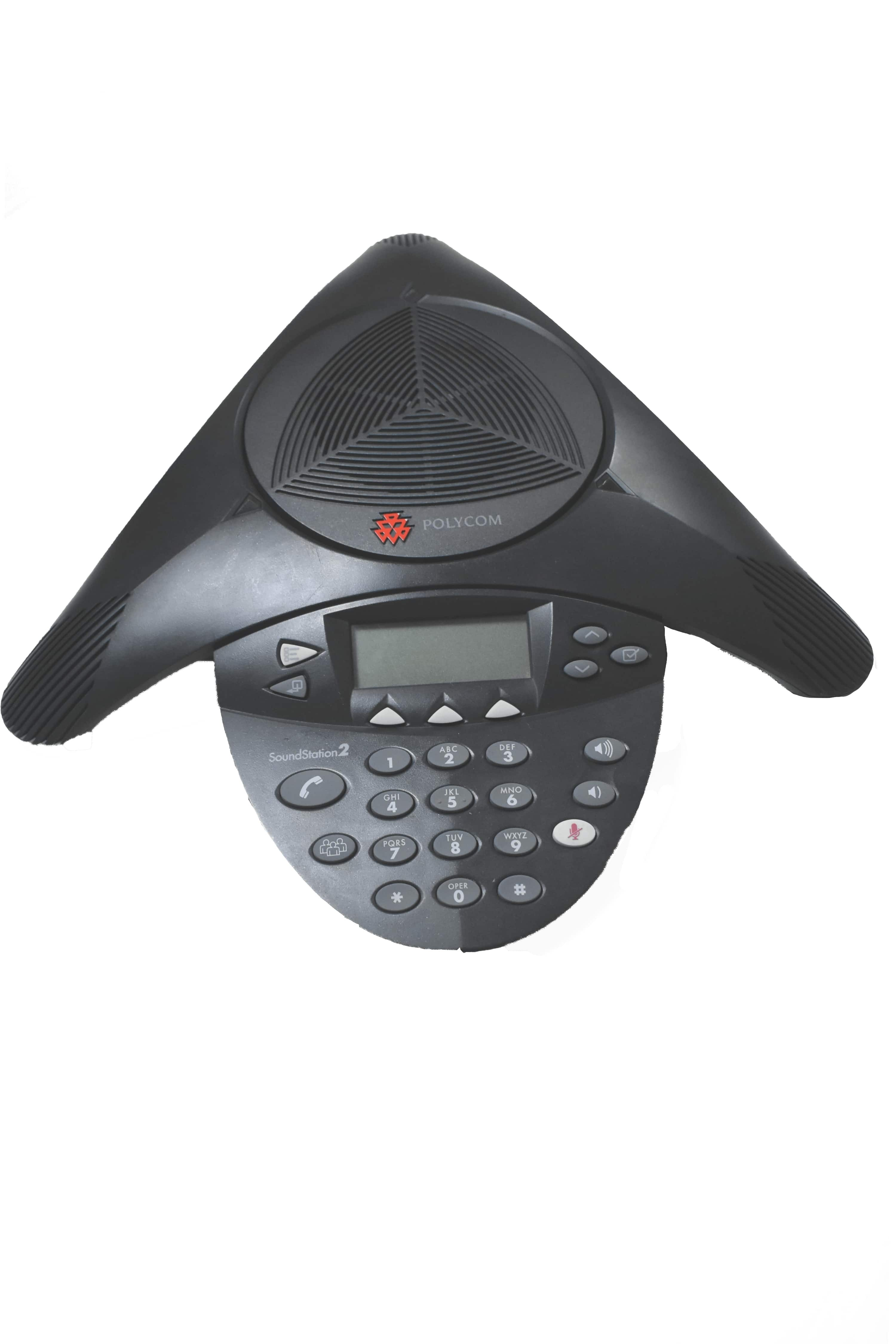 Poly Soundstation 2 Non-Expandable Conference Phone With Display (Refurbished)