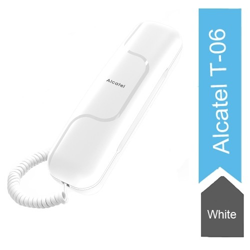 Alcatel T06 Wall Mount Corded Landline Phone (White)