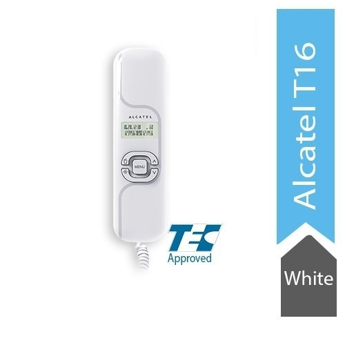 Alcatel T16 Ultra Compact Corded Landline Phone with Caller ID Wall Mounted (White)