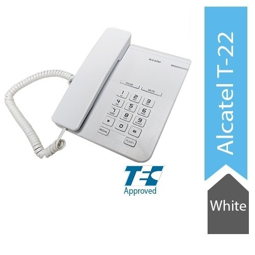 Alcatel T22 Corded landline Phone with Flashing Visual Ringer Indicator (White)