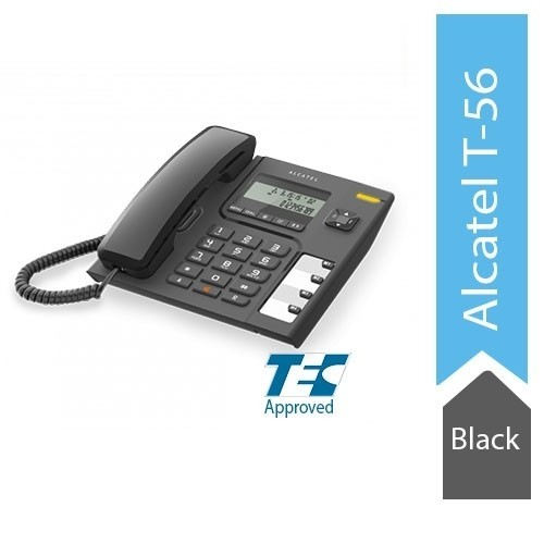 Alcatel T56 Corded Landline Phone With Caller Id And Handsfree (Black)