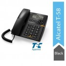 Alcatel T58 Corded Landline Phone With Display & Speaker (Black)
