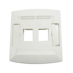 Molex Face Plate Dual Port White WSY-00013-02