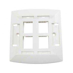 Molex Face Plate Quad Port White WSY-00014-02 (Pack of 10)