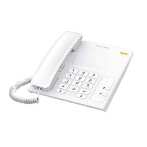 Alcatel T26 Corded Landline Phone With Wall Mountable & Visual Call Indicator (White)