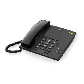 Alcatel T26 Corded Landline Phone With Wall Mountable & Visual Call Indicator (Black)