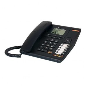 Alcatel T780 Corded Landline Phone with 2 Line Display & Speaker (Black)