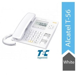 Alcatel T56 Corded Landline Phone With Caller Id And Handsfree (White)