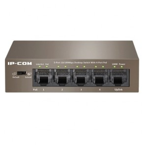 IP-COM F1105P-4-63W 5-Port Fast Ethernet Umanaged PoE Switch with 4-Port PoE