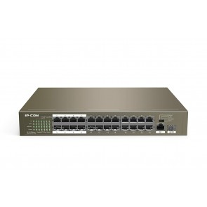 IP-COM F1126P-24-250W 24 10/100Mbps +1 Gigabit/SFP Slots Switch With 24-Port PoE