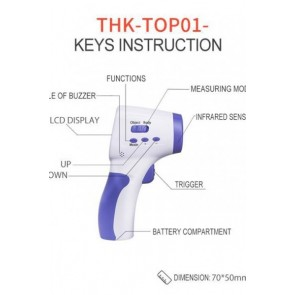 TAHOCO Infrared Non-Contact Thermometer for Fever Detection-THK-TOP01