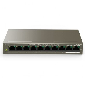 IP-COM F1110P-8-102W 8-Port10/100Mbps+2 Gigabit Desktop Switch with 8-Port PoE