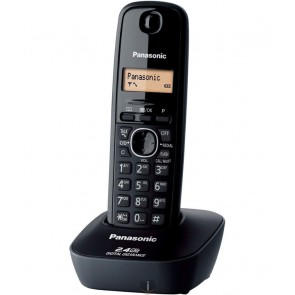 Panasonic Single Line 2.4 KX-TG3411SX Digital Cordless Phone (Black)