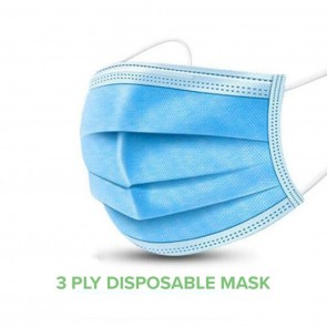 K's 3 Ply Disposable Air Pollution & Protection Mask-(Pack of 100)