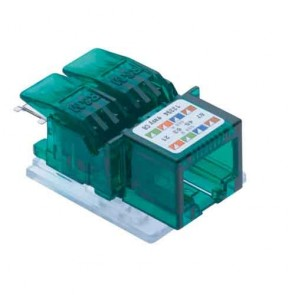R&M CAT 6 I/O Green for Face Plate-R810597