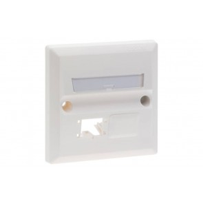R&M 2 port Face Plate, BS Style, White-R199514