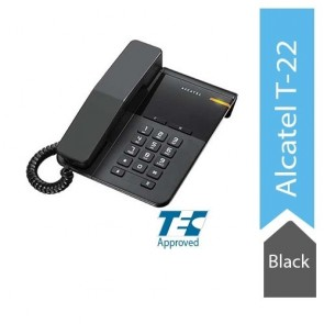 Alcatel T22 Corded landline Phone with Flashing Visual Ringer Indicator (Black)
