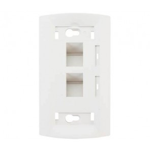 Molex Face Plate Dual Port White Angled WSY-00006-02 (Pack of 5)