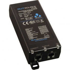 Veracity OUTSOURCE Plus Midspan 25/30W POE Plus 802.3at Injector - 1 port-VOR-OSP